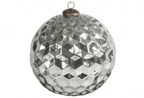 Hänger Ball Glas Ø20cm glänz.