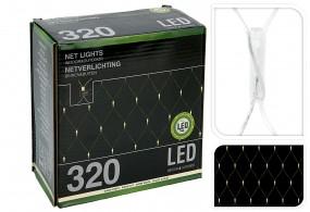 LED Lichternetz 320LED ww3x15