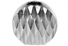 Vase silber rund H16cm