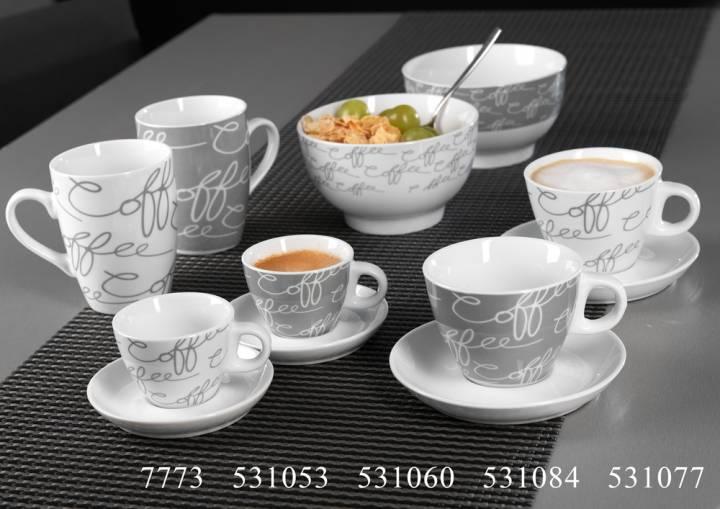 flirt by r b kaffee serie cornello grey kaffee serien gedeckter tisch sch. Black Bedroom Furniture Sets. Home Design Ideas