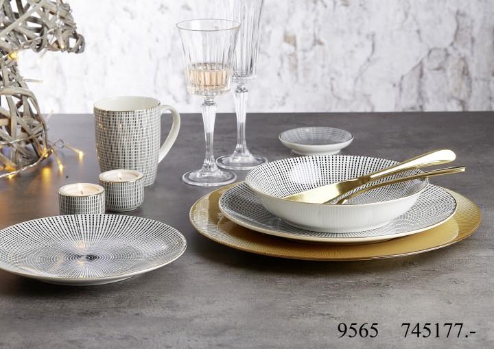 ritzenhoff breker geschirr serie takeo stripes gold 6er. Black Bedroom Furniture Sets. Home Design Ideas