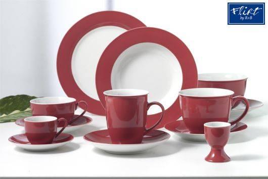 flirt by r b geschirr serie doppio rot geschirr gedeckter tisch sch ihr. Black Bedroom Furniture Sets. Home Design Ideas