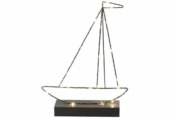 Boot mit Holzsockel LED H37x28