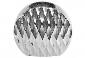 Vase silber rund H20cm