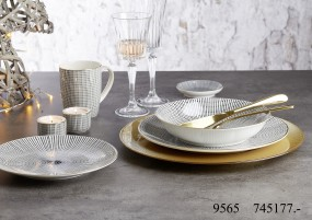 Ritzenhoff & Breker Geschirr-Serie Takeo Stripes Gold