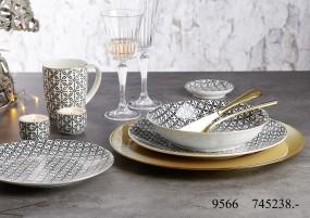 Ritzenhoff & Breker Geschirr-Serie Takeo Leaves Gold