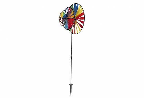 Gartenstecker Windspiel Magic Wheel Triple